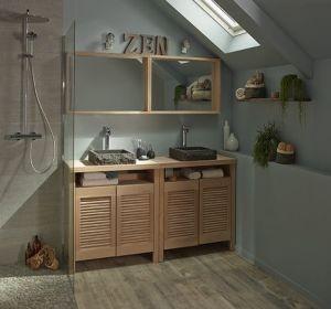 Tendance bois pour la salle de bain habitatpresto for Lumiere dans salle de bain sans fenetre