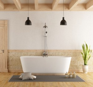 baignoire et plancher en bois : l'union sacré ! | habitatpresto - Salle De Bain Sur Plancher