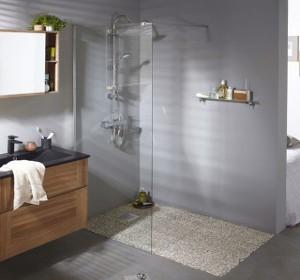 sol salle de bain : comparatif & prix de 12 types de revêtements ... - Revetement Sol Salle De Bain Sur Plancher Bois