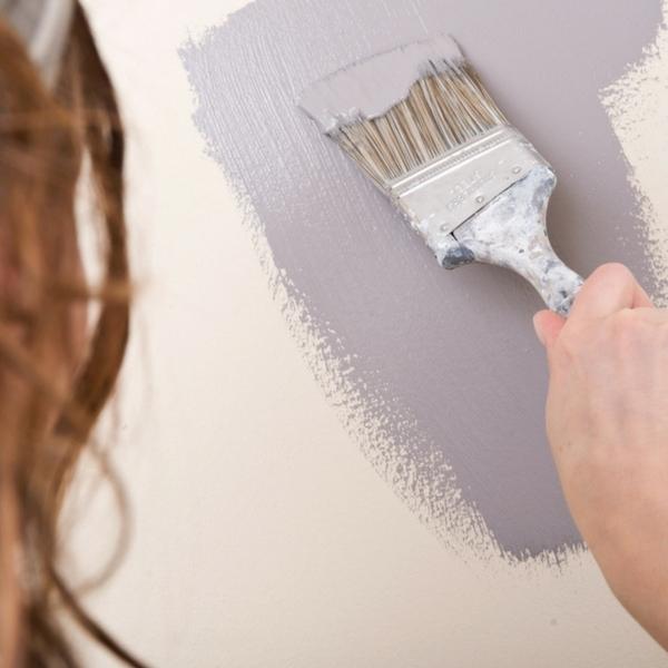 Inspiration peinture murale g om trique habitatpresto for Peinture pieces humides