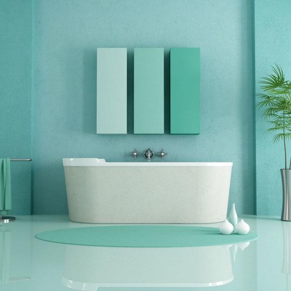 les 5 couleurs tendances pour une salle de bains en 2019. Black Bedroom Furniture Sets. Home Design Ideas