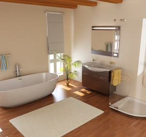 Conseils pour une salle de bain lumineuse habitatpresto - Plante pour salle de bain sans fenetre ...