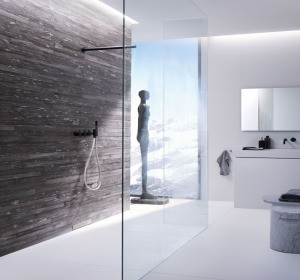 une douche vacuation murale habitatpresto. Black Bedroom Furniture Sets. Home Design Ideas