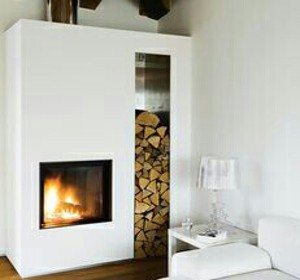 idées stockage bûche bois intérieur